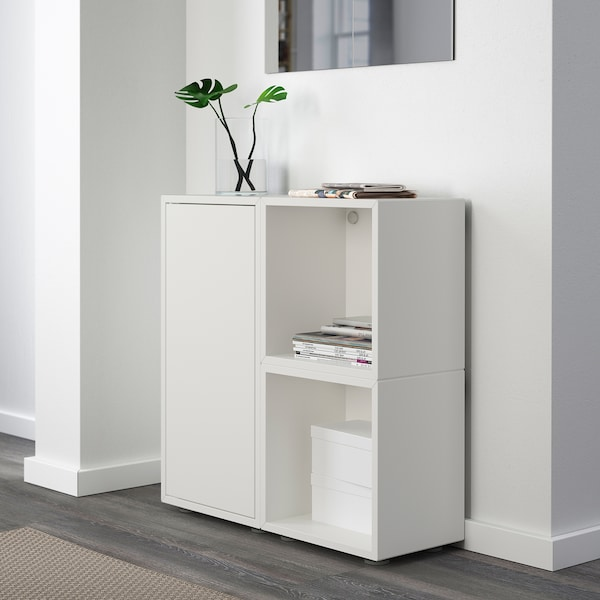 "EKET Storage combination with feet, white, 27 1/2x9 7/8x28 3/8 """