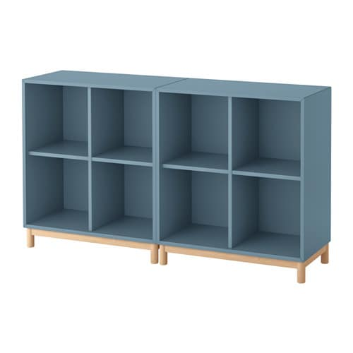 EKET Storage combination with legs  light blue  IKEA