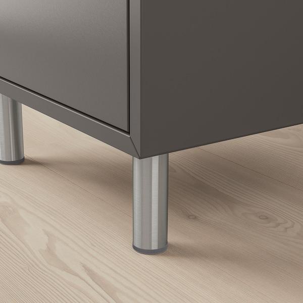"EKET Storage combination with legs, dark gray/light gray, 13 3/4x13 3/4x31 1/2 """