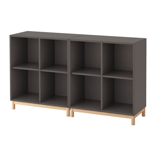 EKET Storage combination with legs, dark gray dark gray