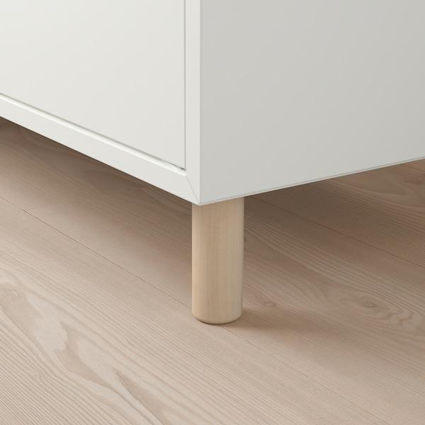 "EKET Storage combination with legs, white dark gray/wood, 13 3/4x13 3/4x31 1/2 """