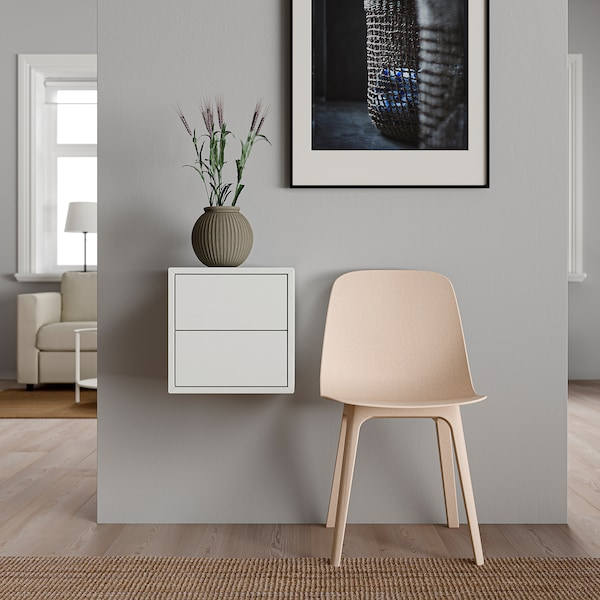 """EKET Wall cabinet with 2 drawers, white, 13 3/4x13 3/4x13 3/4 """""""