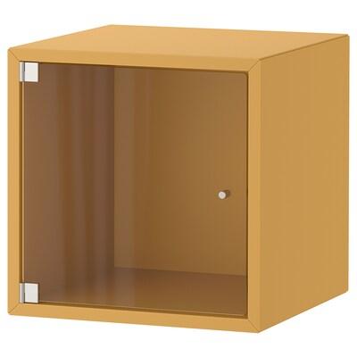 """EKET wall cabinet with glass door golden brown 13 3/4 """" 13 3/4 """" 13 3/4 """""""