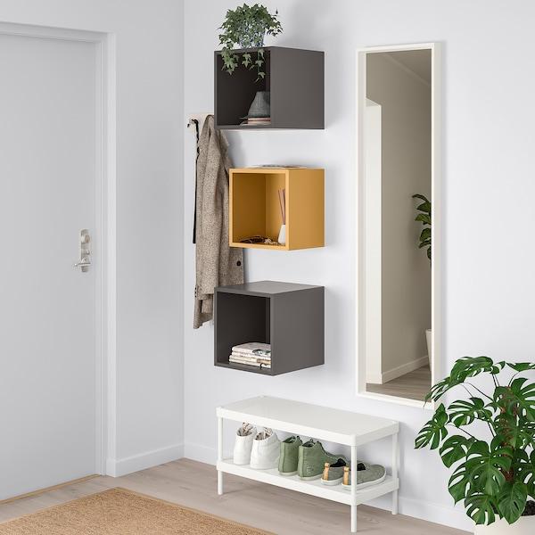 EKET Wall-mounted cabinet combination - golden brown, dark ...
