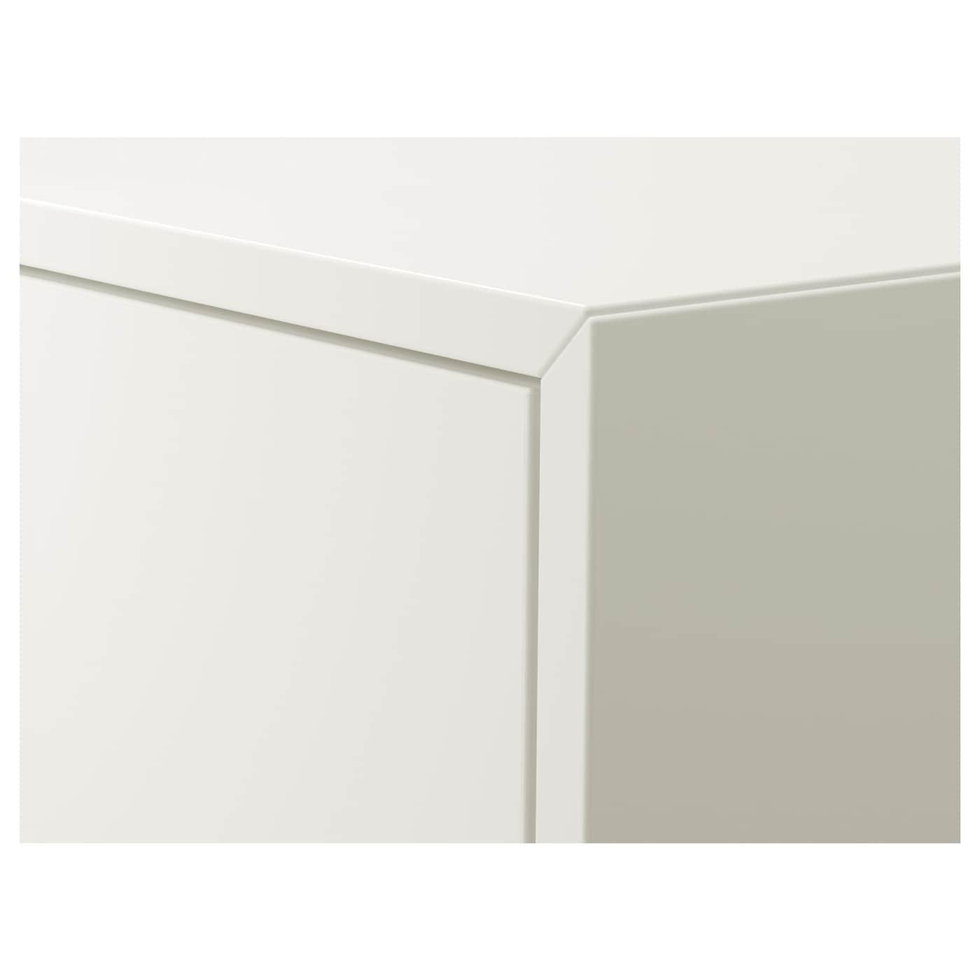 "EKET Wall-mounted cabinet combination, white/dark gray/light gray, 31 1/2x13 3/4x82 5/8 """
