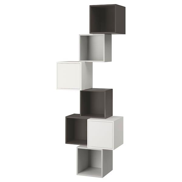Eket Wall Mounted Cabinet Combination White Dark Gray Light Gray Find It Here Ikea
