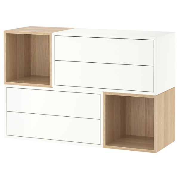 EKET Wall-mounted cabinet combination - white, white ...