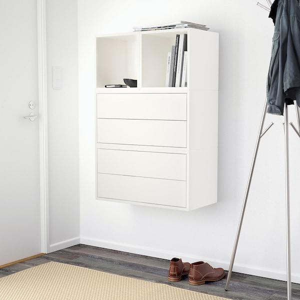 "EKET Wall-mounted cabinet combination, white, 27 1/2x13 3/4x41 3/8 """