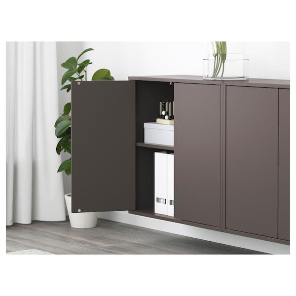 EKET Wall-mounted cabinet combination - dark gray - IKEA