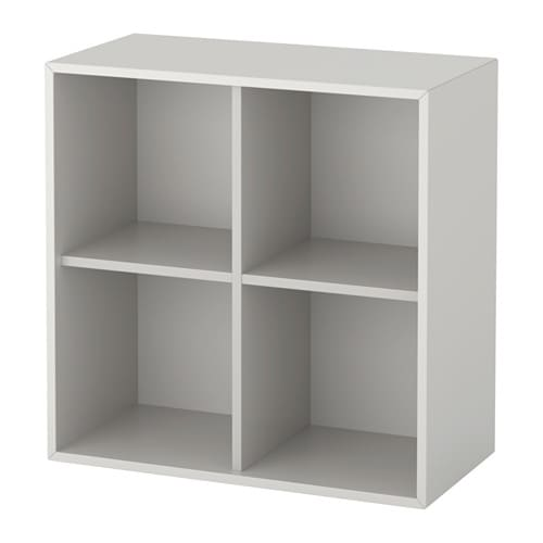 EKET Wall-mounted shelf unit - light gray - IKEA
