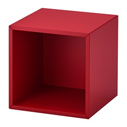 EKET wall-mounted shelving unit, red