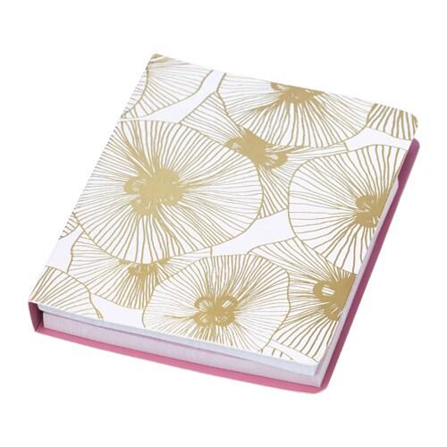 EKLOG Folder with sticky notes, gold, pink