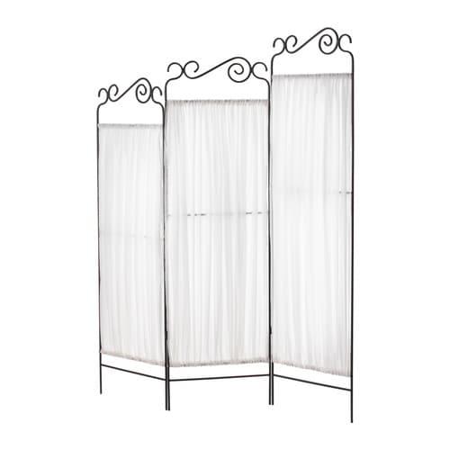 EKNE Room divider, gray, white gray/white 53 1/8x63 3/8
