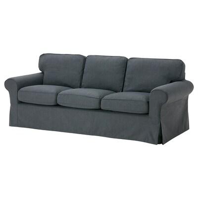 EKTORP 3.5-seat sofa, Nordvalla dark gray