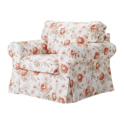 "EKTORP Chair multicolor Width: 41 3/8 "" Depth: 35 3/8 "" Height: 34 5/8 "" Seat width: 22 1/2 "" Seat depth: 19 5/8 "" Seat height: 17 3/4 ""  Width: 105 cm Depth: 90 cm Height: 88 cm Seat width: 57 cm Seat depth: 50 cm Seat height: 45 cm"