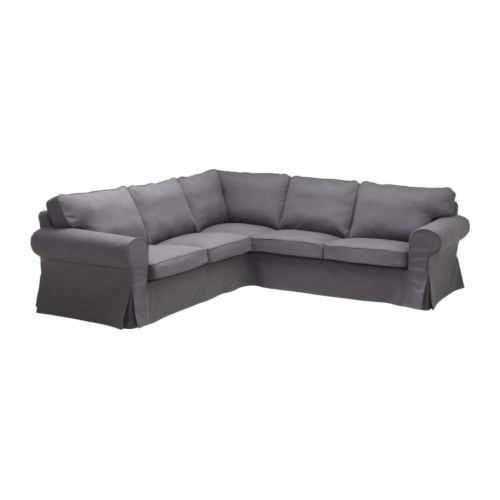 EKTORP Corner sofa 2+2 slipcover IKEA Easy to keep clean with removable, dry clean only cover.