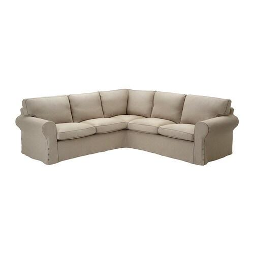 EKTORP Corner sofa 2+2 slipcover IKEA The cover is easy to keep clean ...