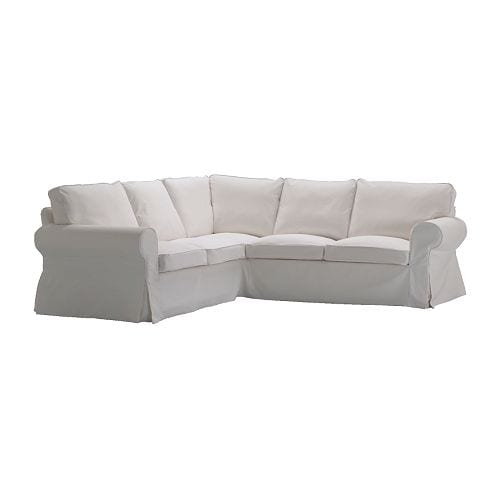 Ektorp corner sofa 2 2 slipcover blekinge white ikea for Housse sofa ikea