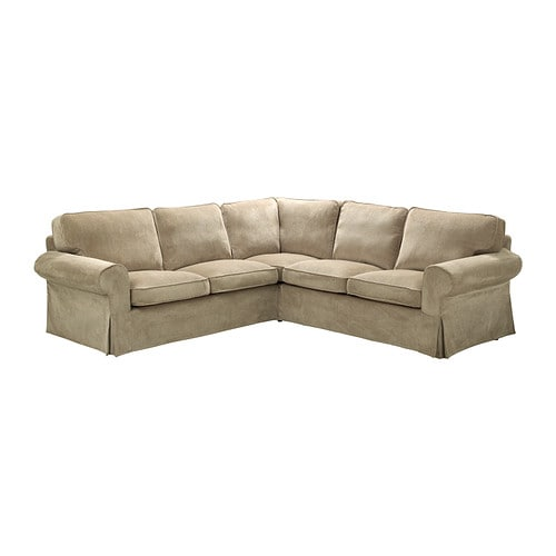 EKTORP Corner sofa 2+2 IKEA Easy to keep clean with removable, dry clean only cover.
