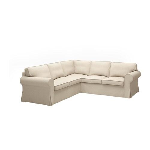 EKTORP Corner sofa 2+2   Nordvalla dark beige   IKEA