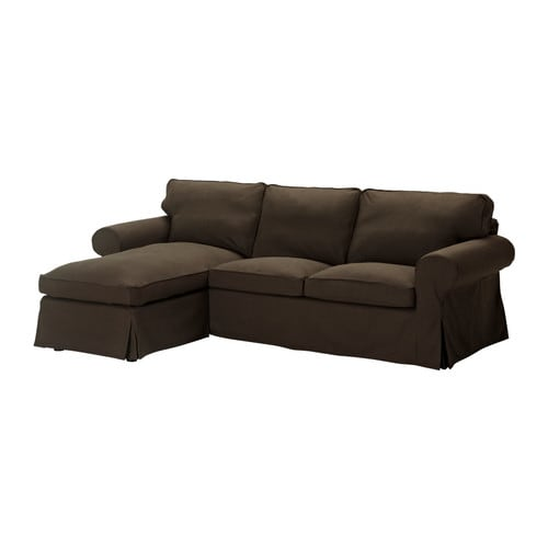 Ikea ektorp cover for loveseat with chaise lounge svanby brown slipcover new - Chaise en plastique ikea ...