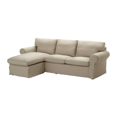 Ektorp Cover For Loveseat With Chaise Risane Natural Ikea