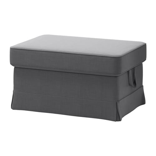 ektorp cover for ottoman nordvalla dark gray ikea. Black Bedroom Furniture Sets. Home Design Ideas