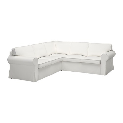Ektorp cover for 4 seat corner sectional vittaryd white for Canape equipment