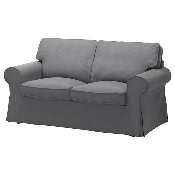 EKTORP loveseat cover Nordvalla dark gray