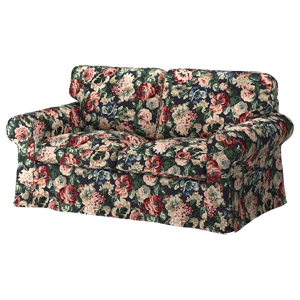 Admirable Loveseat Cover Ektorp Lingbo Multicolor Andrewgaddart Wooden Chair Designs For Living Room Andrewgaddartcom