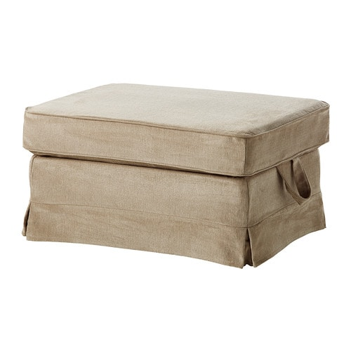 EKTORP Footstool cover IKEA Easy to keep clean with removable, dry clean only cover.