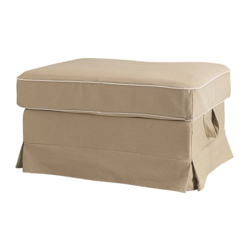 EKTORP Footstool cover IKEA Easy to keep clean with a removable,machine washable cover.