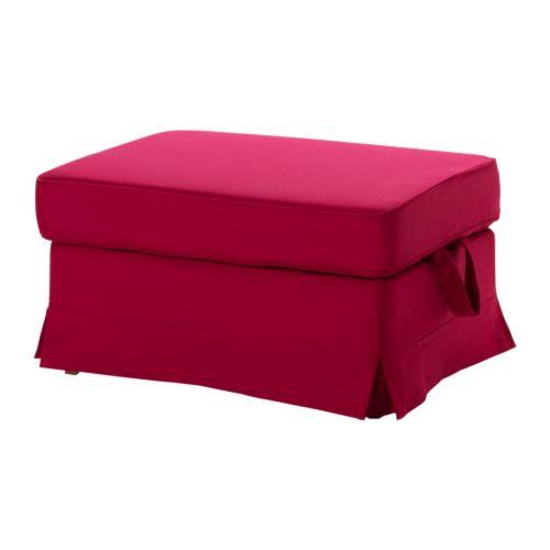 Ikea Stool Red: EKTORP Footstool