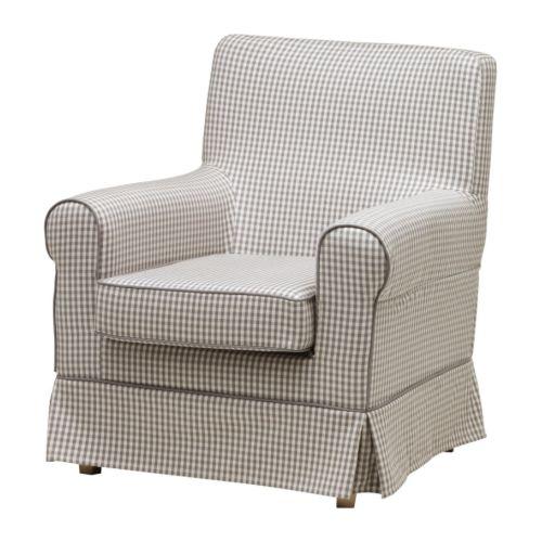 Ektorp Jennylund Chair Cover S 229 Gmyra Gray Check Ikea