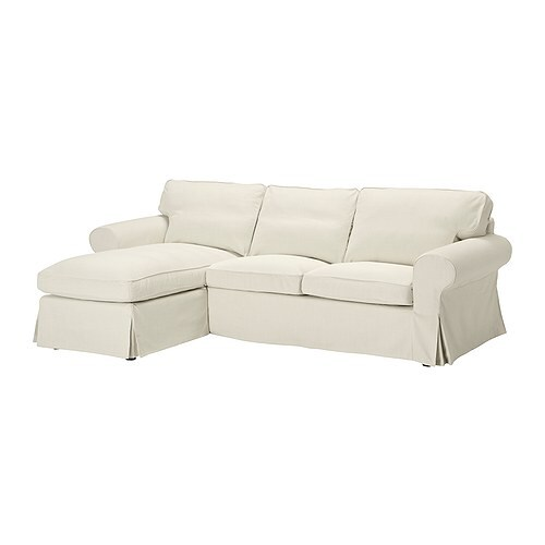 EKTORP Loveseat and chaise lounge IKEA Easy to keep clean with removable, dry clean only cover.