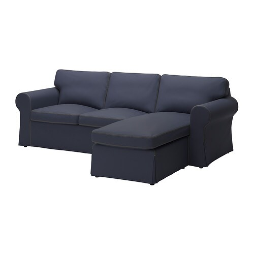 ektorp loveseat and chaise jonsboda blue ikea. Black Bedroom Furniture Sets. Home Design Ideas