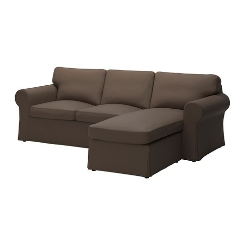 Ektorp loveseat and chaise jonsboda brown ikea Ikea lounge sofa