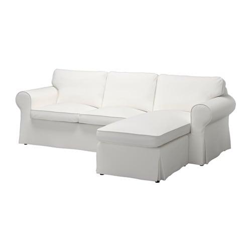 Ektorp Loveseat And Chaise Vittaryd White Ikea