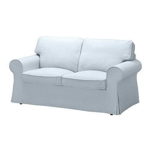 Ektorp loveseat nordvalla light blue ikea for Housse sofa ikea