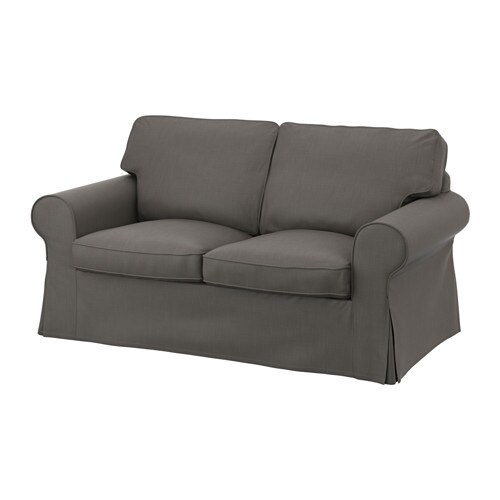 Ektorp loveseat cover nordvalla gray ikea for Housse sofa ikea