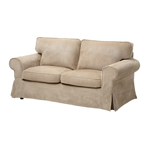 EKTORP Loveseat IKEA Easy to keep clean with removable, dry clean only cover.