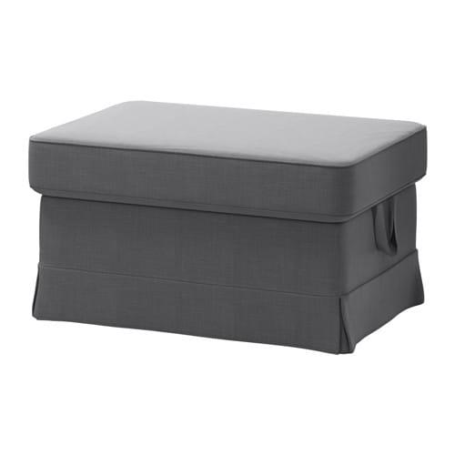 ektorp ottoman nordvalla dark gray ikea. Black Bedroom Furniture Sets. Home Design Ideas