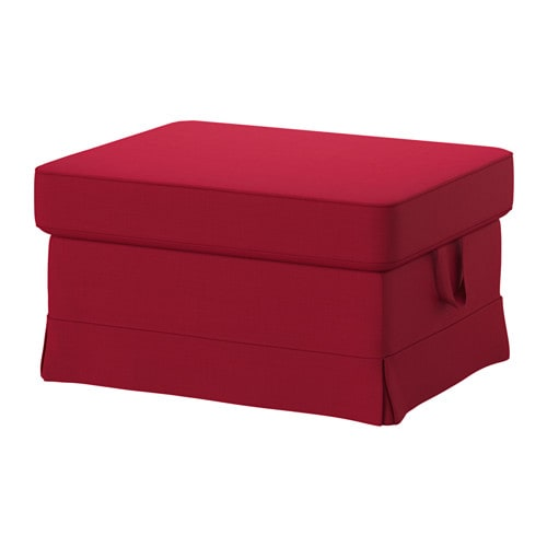 ektorp ottoman nordvalla red ikea. Black Bedroom Furniture Sets. Home Design Ideas