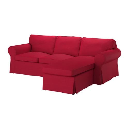 Ektorp sectional 3 seat nordvalla red ikea for Red sectional sofa ikea