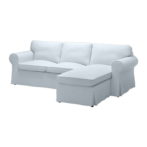 Ikea Sofa With Chaise: With Chaise/Nordvalla Light Blue