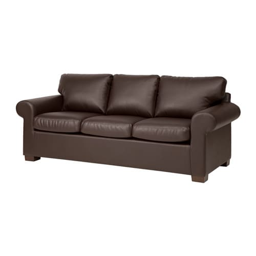 Ektorp sofa kimstad brown ikea for Ikea sofas en cuir