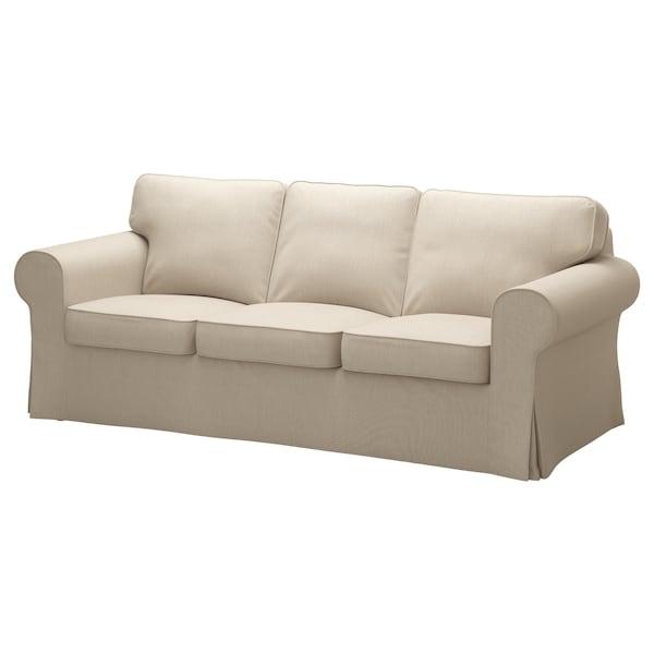 """EKTORP sofa Nordvalla dark beige 85 7/8 """" 34 5/8 """" 34 5/8 """" 19 1/4 """" 17 3/4 """""""