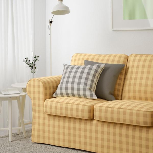 "EKTORP sofa Skaftarp yellow 85 7/8 "" 34 5/8 "" 34 5/8 "" 19 1/4 "" 17 3/4 """