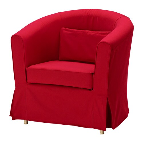 Ektorp Tullsta Chair Cover Idemo Red Ikea