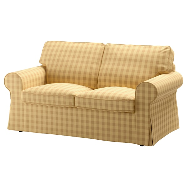 "EKTORP loveseat Skaftarp yellow 70 1/2 "" 34 5/8 "" 34 5/8 "" 19 1/4 "" 17 3/4 """